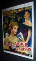 Carte Postale (cinéma Affiche Film) Haine Amour Et Trahison (Brigitte Bardot) - Affiches Sur Carte