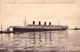 """PAQUEBOT : TRANSATLANTIQUE """" FRANCE """" à LE HAVRE [ LE HAVRE - NEW YORK ] - ANNÉE / YEAR ~ 1912 - '920 (aa843) - Paquebots"""