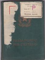 ITALIAN FEMENINO FEMALE YEAR 1955 PASAPORTE PASSPORT REISEPASS PASSAPORTO - BLEUP - Documenti Storici