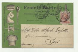 LECCO - FRATELLI BETTINI ACCESSORI PER FILANDE E TESSITURE 1924 VIAGGIATA FP - Gifhorn