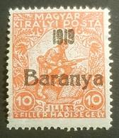 "1919, Hungarian Stamp Overprinted ""Baranya"", MLH, Hungary, Hongrie, Magyar Kir Posta - Baranya"