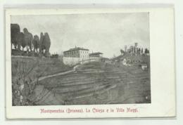 MONTEVECCHIA ( BRIANZA ) LA CHIESA E LA VILLA MAGGI 1912 VIAGGIATA FP - Lecco