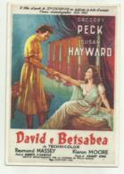 CARTOLINA FILM DAVID E BETSABEA CON G.PECK E SUSAN HAYWARD - NV  FG - Cinema
