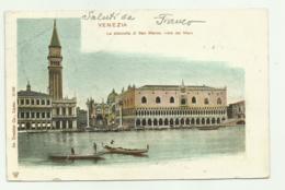 VENEZIA  - LA PIAZZETTA DI S. MARCO VISTO DAL MARE 1910  VIAGGIATA FP - Venezia (Venedig)
