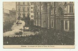 FIRENZE - LO SCOPPIO DEL CARRO IN PIAZZA DEL DUOMO 1921  VIAGGIATA FP - Firenze
