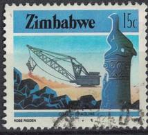 Zimbabwe 1985 Oblitéré Used Coal Mining Dragline Mine De Charbon - Zimbabwe (1980-...)