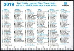 ITALIA 2019 - CALENDARIO TASCABILE - LEGA DEL FILO D'ORO - AIUTACI ANCHE TU! - Calendari