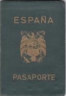 ESPAÑA HOMBRE Y MUJER YEAR 1957 PASAPORTE PASSPORT REISEPASS PASSAPORTO - BLEUP - Documentos Históricos