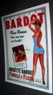 Carte Postale (cinéma Affiche Film) Female And The Flesh (Brigitte Bardot) - Affiches Sur Carte
