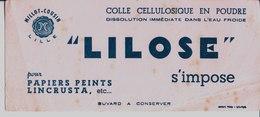 """Colle Cellulosique En Poudre Pour Papiers Peints, Lincrusta. """"Lilose"""" S'impose. Millot Cousin. Lille. - Blotters"""