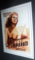 Carte Postale (cinéma Affiche Film) Sommernächte Mit Manina (Manina La Fille Sans Voiles) (Brigitte Bardot) - Affiches Sur Carte