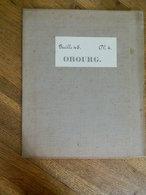 OBOURG +MILITARIA:TRES RARE CARTE MILITAIRE DE OBOURG  ET ENVIRONS-1860-1870 - Documents