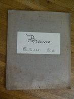 BRAIVES+MILITARIA:TRES RARE CARTE MILITAIRE DE BRAIVES  ET ENVIRONS-1860-1870 - Documenten