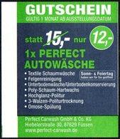 GERMANY FUSSEN 2017 - BOOTSHAFEN - CAR WASH - PARKING TICKET - Biglietti D'ingresso