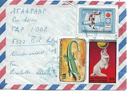 MONGOLIA 1972? Cover Posted 9 Stamps COVER USED - Mongolie