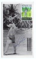 GF Carte Maximum 246, Barbados Independence 1966, Sport Cricket Autographe G Sobers - Barbades (1966-...)