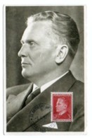 GF Carte Maximum 254, Yougoslavie Jugoslavia 1950, Marechal Josip Broz Tito 3 Din - Cartes-maximum
