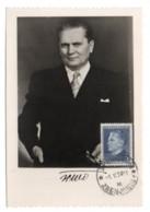 GF Carte Maximum 255, Yougoslavie Jugoslavia 1950, Marechal Josip Broz Tito 5 Din - Cartes-maximum