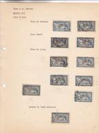 """AN 1900 No 123 TYPE """"LUC OLIVIER MERSON"""" CINQ FRANCS BLEU ET CHAMOIS BLEU FONCE BLEU ET OLIVE TEINTE DE FOND DEP - BLEUP - Francia"""