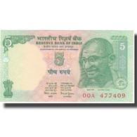 Billet, Inde, 5 Rupees, KM:88Ab, SPL - Inde