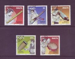 Malta 2001 - Strumenti Musicali, 5v Usati Di Lusso - Malte