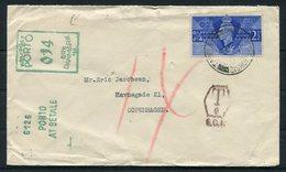 1946 GB Denmark Postage Due, Taxe, Porto At Betale Cover - Copenhagen - 1902-1951 (Kings)