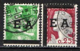 ALGERIA - 1962 - FRANCOBOLLI DI FRANCIA CON SOVRASTAMPA E A - INDIPENDENZA DELL'ALGERIA - USATI - Algérie (1962-...)