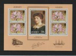 91700) JERSEY 1986 JERSEY GIGLI M/foglio * In Perfatta Condizione-BF N. 4-MNH** - Jersey