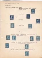 """AN 1906 No 140 """"LA SEMEUSE DE ROTY"""" -VINGT CINQ CENTIMES BLEU TYPE I, TYPE II & TYPE III - BLEUP - Francia"""