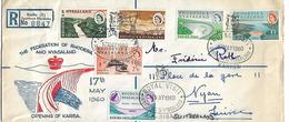 RHODESIA & NYASALAND 1960 Registered Cover Posted 6 Stamps (Complete Set Sc#172-177) FDC COVER USED - Rhodésie & Nyasaland (1954-1963)