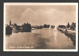 Aalsmeer - Gezicht Op Aalsm. Dijk - Fotokaart - Zeilboot - Aalsmeer