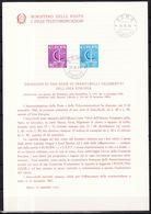 Europa CEPT 1966 Italie - Italy - Italien Livret Y&T N°955 à 956 - Michel N°1215 à 1216 (o) - 1966