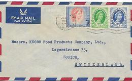 RHODESIA & NYASALAND 1954 Cover Posted 3 Stamps COVER USED - Rhodésie & Nyasaland (1954-1963)