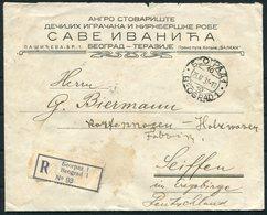 1931 Belgrade Beograd Registered Cover - Seiffen Germany - 1931-1941 Kingdom Of Yugoslavia