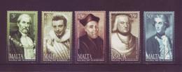 Malta 2002 - Personaggi, 5v Usati Con Annullo Rotondo - Malta