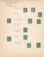 "AN 1922/1923/1928 No 159 TYPE ""SEMEUSE SUR FOND PLEIN""-DIX CENTIMES VERT - BLEUP - Francia"