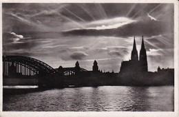AK Köln - Hohenzollernbrücke Und Dom - Abendstimmung - Feldpost 1941 (40184) - Köln