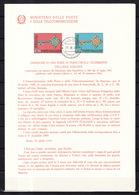 Europa CEPT 1968 Italie - Italy - Italien Livret Y&T N°1010 à 1011 - Michel N°1224 à 1225 (o) - Europa-CEPT