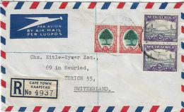 SOUTH AFRICA 1948 Registered Cover Posted 4 Stamps COVER USED - Lettres & Documents