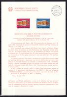 Europa CEPT 1969 Italie - Italy - Italien Livret Y&T N°1034 à 1035 - Michel N°1295 à 1296 (o) - Europa-CEPT