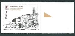 Italia 2019; Matera Capitale Europea Della Cultura, B Zona1 Per L' Europa; Bordo Destro. - 1946-.. République