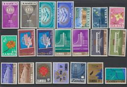 Zambia - Zambie 1965 - 1966 - 1967  Années Complètes  * MVLH (1965 Et 1966) ***MNH (1967) - Zambie (1965-...)