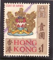 Hong Kong 1968 - Local Motives 1$ Coat Of Arms - Hong Kong (...-1997)