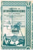 Ancienne Action - Compagnie De Laiteries & Boucheries Réunies Au Maroc - Déco - Mines