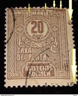 "ERROR Revenue Stamps Romania 1918 Social Assistance,20 Bani Without Circle Frame"" Urmele De Cuie"",CIRCLE  ``O``` ROMANIA - Errors, Freaks & Oddities (EFO)"