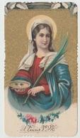 SANTINO  - IMAGE PIEUSE - DEVOTIONAL IMAGES   SANTA LUCIA VERGINE MARTIRE (ACQUISTO MINIMO 4 SANTINI) - Devotieprenten