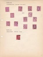 AN 1924 No 202 & 203 TYPE SEMEUSE SUR FOND LIGNE-SOIXANTE QUINCE CENTIMES LILAS & SCUQTRE VINGT CENTIMES ROUGE - BLEUP - Francia