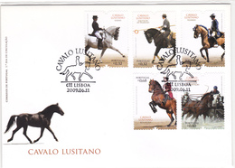 Portugal-FDC- Cavalos Portugueses - FDC
