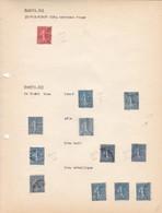 AN 1924 No 204 & 205 TYPE SEMEUSE SUR FOND LIGNE-QUATRE VINGT CINQ CENTIMES ROUGE & UN FRANC BLEU - BLEUP - Francia