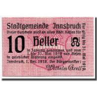 Billet, Autriche, Innsbruck, 10 Heller, Ecusson, 1918, 1918-12-01, SPL - Autriche